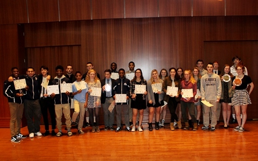 Teams, Athletes Honored at Winter Awards Ceremony