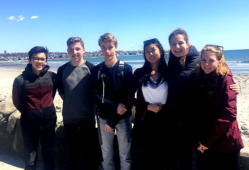 Six German Exchange Students Visiting St. Mark's This Spring