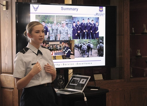 15 Minute Lecture: Ginny Walsh '17 on Air Force ROTC