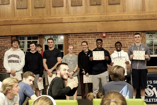 Weather-Delayed Winter Athletic Awards Presented