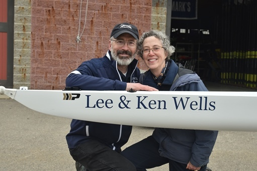 New Crew Shell Dedicated in Honor of Lee and Ken Wells