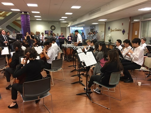 SM Orchestra Performs at Local Hospital