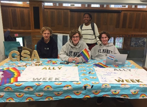 Student-Run GSA Hosts Ally Week at St. Mark's