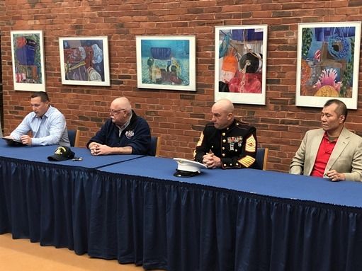 Veterans Visit SM for Veterans Day Presentation