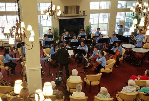 St. Mark's Orchestra Plays for Retirement Community