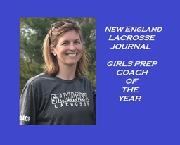 Channing Warner N. E.  Prep Girls Lacrosse Coach of the Year