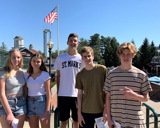Five Australian Exchange Students at St. Mark's