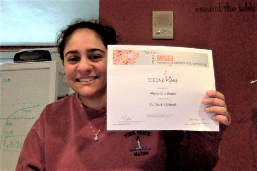 St. Mark's VI Former Wins State Science Fair Honors