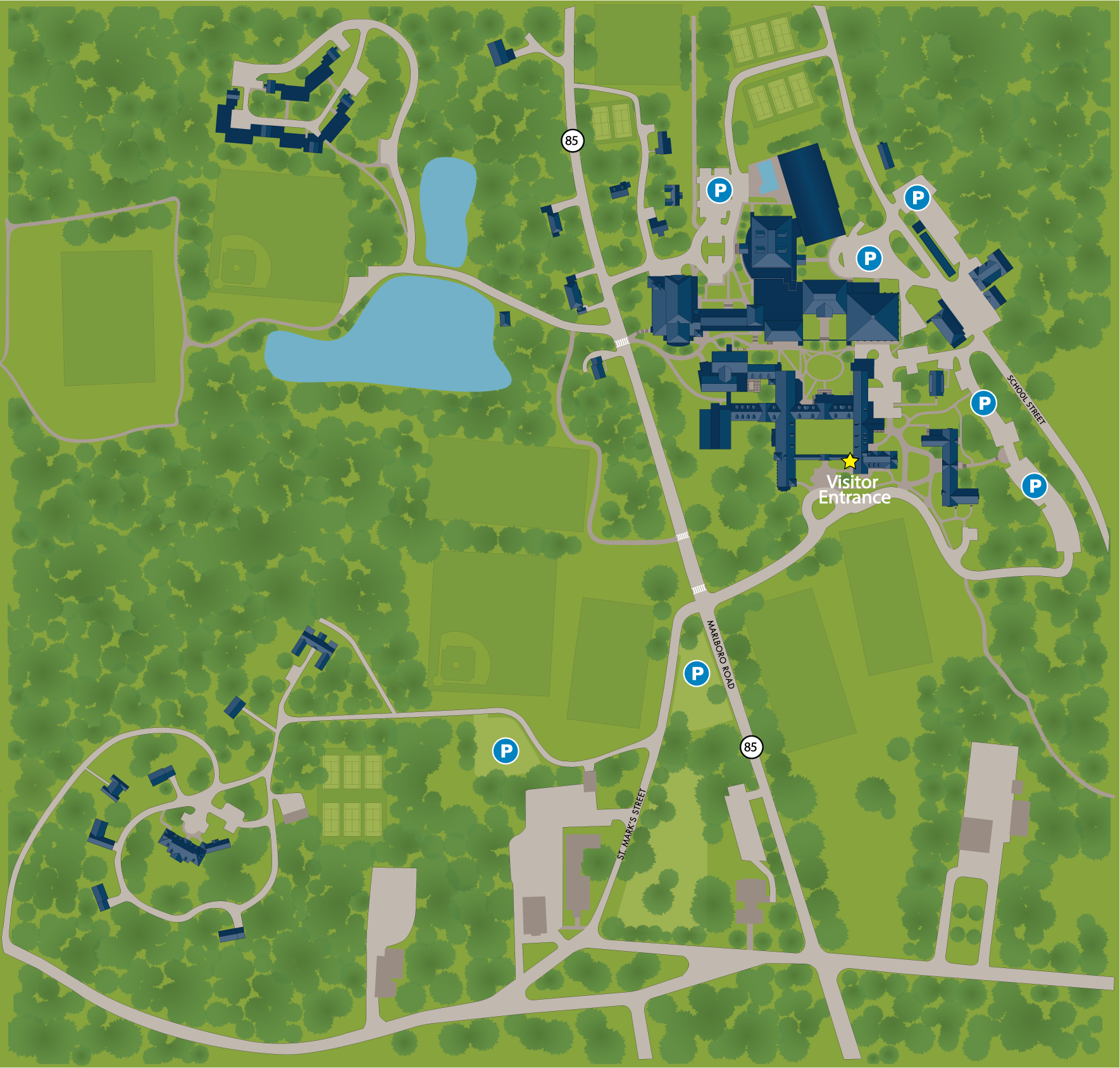 South Texas College Campus Map.Campus Map St Mark S School